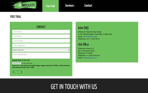 Screenshot of Trial Page uretouch.com - URetouch Photos- Digital Image Editing, Treatment & Manipulation Services - captured Nov. 16, 2018