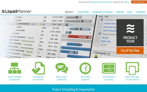 Screenshot of Products Page liquidplanner.com - Online Project Management Software Features | LiquidPlanner - captured July 20, 2014