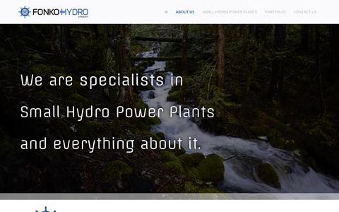Screenshot of About Page fonkohydro.com - About us - Fonko Hydro - captured Aug. 19, 2018