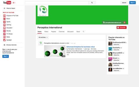 Screenshot of YouTube Page youtube.com - Perceptics International  - YouTube - captured Oct. 22, 2014
