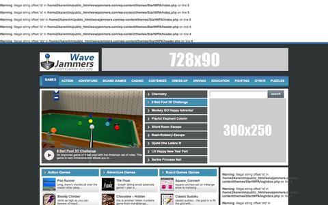 Screenshot of Home Page Menu Page wavejammers.com - Wave Jammers — - captured Oct. 6, 2014