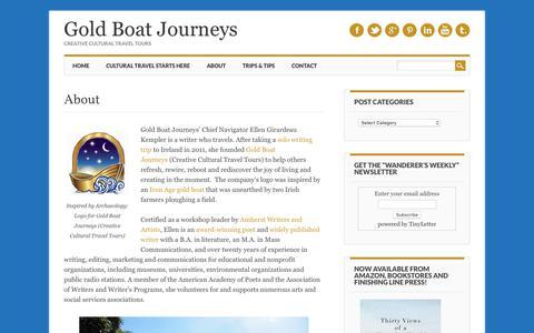 Screenshot of About Page gold-boat.com - About Ellen Girardeau Kempler | Gold Boat Journeys - captured Sept. 29, 2018
