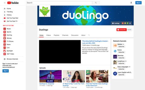 Duolingo  - YouTube