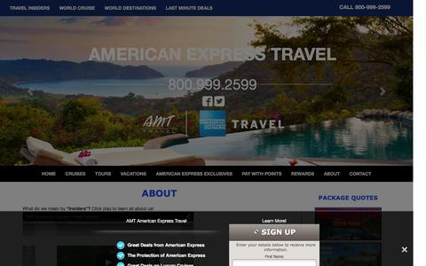 Screenshot of About Page amttravel.com - About AMT, an American Express Travel Representative, a Full Service Travel Agency - captured Feb. 4, 2016