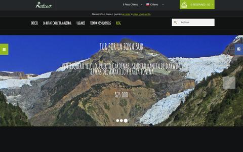 Screenshot of Home Page natour.cl - Natour - captured Feb. 23, 2016
