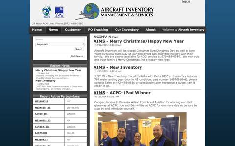 Screenshot of Press Page acinv.com captured Feb. 5, 2016