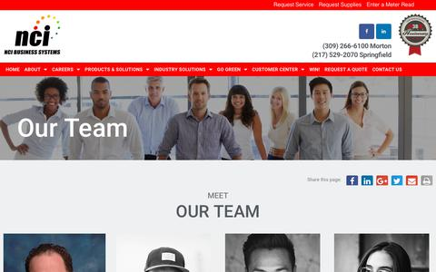 Screenshot of Team Page ncibsi.com - D - Team - NCI Business Systems - captured Nov. 15, 2018