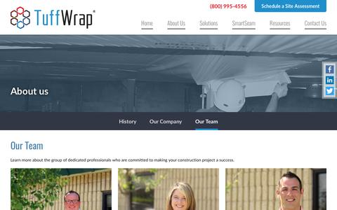Screenshot of Team Page tuffwrap.com - Meet Our Team | Tuffwrap Installations - captured Dec. 18, 2016