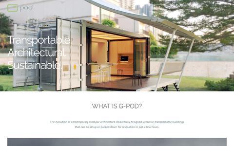 Screenshot of Home Page g-pod.com - G-Pod - Home - captured Sept. 25, 2018
