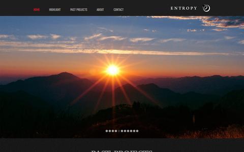 Screenshot of Home Page entropyagency.com - Entropy Entertainment | Film Development & Production Services - captured Nov. 8, 2016