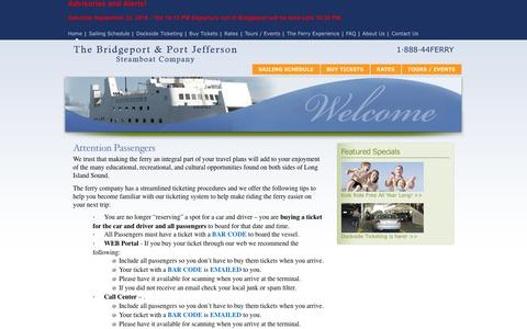 Screenshot of Home Page Maps & Directions Page 88844ferry.com - The Bridgeport & Port Jefferson Steamboat Company > Home - captured Sept. 23, 2018