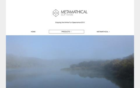 Screenshot of Products Page metamathical.com - Products | - captured Feb. 13, 2016