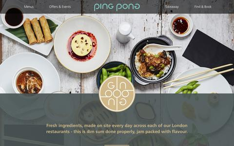 Screenshot of Menu Page pingpongdimsum.com - PingPong Dimsum - Chinese Dim Sum & Cocktails - Menus - captured Nov. 4, 2018