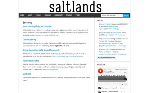 Screenshot of Services Page wordpress.com - Services – Saltlands - captured Sept. 12, 2014