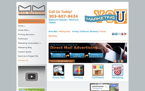 Screenshot of Contact Page mailmasters.net - Contact Us - captured Oct. 5, 2017