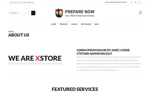 Screenshot of About Page prepare-now.com - About us - Prepare Now - captured June 30, 2018