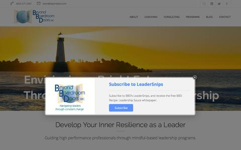 Screenshot of Home Page beyondbbd.com - Beyond Boardroom Doors, SBC. - Beyond Boardroom Doors, SBC. - captured Feb. 7, 2016