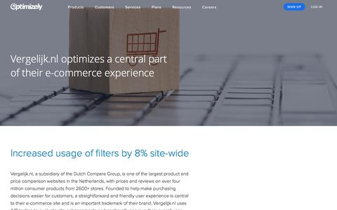 Vergelijk.nl optimizes a central part of their e-commerce experience