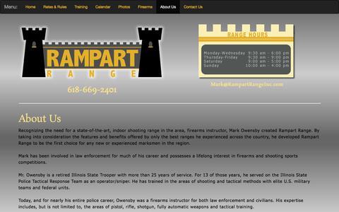 Screenshot of About Page rampartrangeinc.com - Shooting Range   Pocahontas, Illinios   Rampart Range, Inc. - captured Nov. 12, 2017