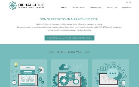 Screenshot of Home Page digitalchills.com - Digital Chills Marketing Digital  Digital Chills, agencia de marketing digital - captured Jan. 7, 2016