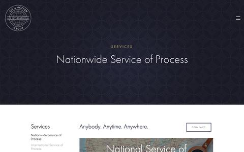 Screenshot of Services Page civilactiongroup.com - Services — Civil Action Group — APS International - captured Feb. 17, 2018