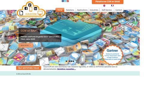 Screenshot of Home Page cloud-ccm.com - Cloud CCM - worldwide class communication solutions - captured Dec. 9, 2015