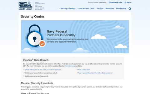 Navy Federal Online Security Center | Navy Federal Credit Union