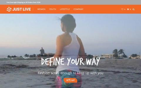 Screenshot of Home Page justlive.com - Home - Just Live Inc - captured Aug. 6, 2015