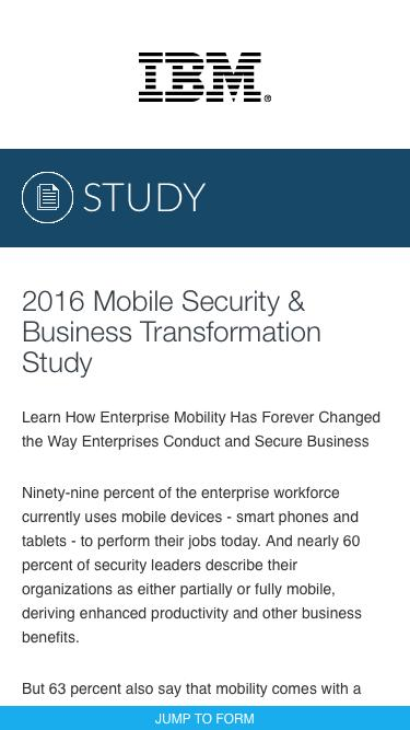 2016 Mobile Security & Business Transformation Study