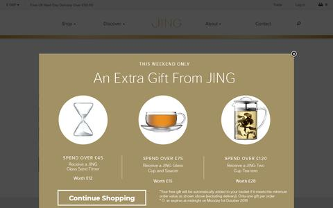 Screenshot of Login Page jingtea.com - Customer Login    JING Tea - captured Sept. 29, 2018
