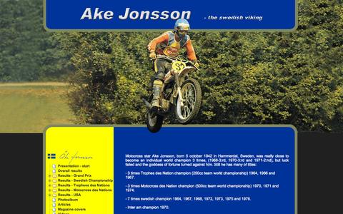 Screenshot of Home Page akejonsson.com - Ake Jonsson - the Swedish Viking - captured Sept. 27, 2015