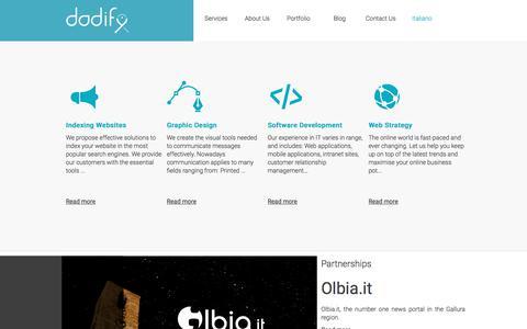 Screenshot of Services Page dodify.com - E-commerce - Corporate image | dodify - captured June 5, 2017