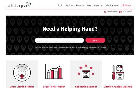 Screenshot of Support Page zendesk.com - Whitespark - captured May 14, 2017