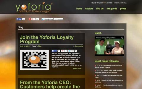 Screenshot of Blog yoforia.com - Blog | Yoforia - captured Sept. 30, 2014