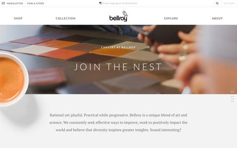 Screenshot of Jobs Page bellroy.com - Careers   Join the Nest   Bellroy - captured May 23, 2017