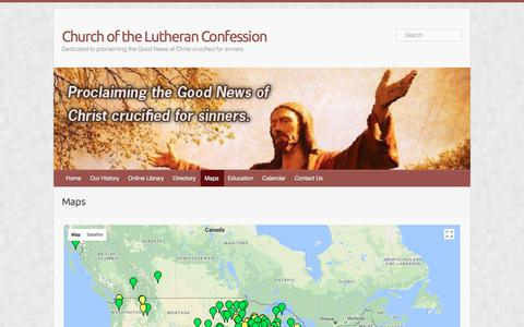 Screenshot of Maps & Directions Page clclutheran.org - Maps – Church of the Lutheran Confession - captured Oct. 27, 2017