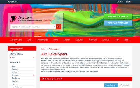 Screenshot of Developers Page arts1.com - Art Developers - Arts1.com - captured Jan. 8, 2017