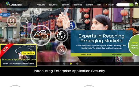 Screenshot of Home Page cdnetworks.com - CDN | Global Content Delivery Network | CDNetworks - captured Nov. 10, 2015