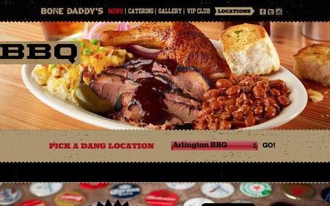 Screenshot of Menu Page bonedaddys.com - Bone Daddy's House of Smoke Menu   Texas Barbecue - captured Nov. 23, 2016