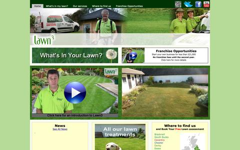 Screenshot of Home Page lawn3.com - Lawn3 | Lawn Care, Lawn Maintenance, Lawn Treatment - captured Sept. 27, 2018