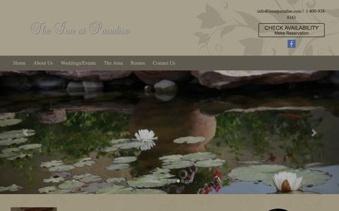 Screenshot of Home Page innatparadise.com - The Inn at Paradise - Albuquerque, NM Bed and Breakfast - captured April 23, 2017