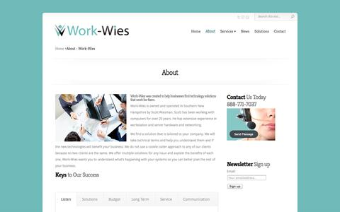Screenshot of About Page work-wies.com - About - Work-Wies - captured Oct. 7, 2014