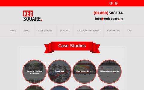 Screenshot of Case Studies Page redsquare-marketing.co.uk - Case Studies - Redsquare Marketing - captured March 18, 2016