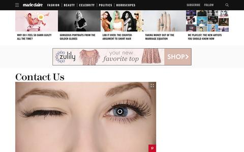 Screenshot of Contact Page marieclaire.com - Contact Marie Claire Magazine   Submission Guidelines - captured Jan. 13, 2016