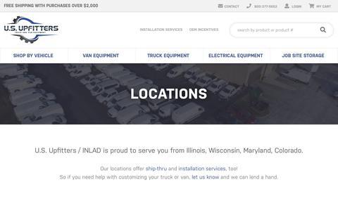 Screenshot of Locations Page inlad.com - Locations - Upfit Installation Service Locations | U.S. Upfitters - captured Sept. 30, 2018