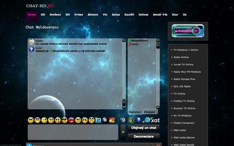 Screenshot of Home Page chat-md.ru - Chat Moldovenesc - Chat Moldovenesc - captured Sept. 23, 2014