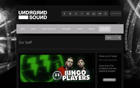 Screenshot of Team Page undrgrndsound.com - Our Staff   UИDЯGЯИD SOUИD - captured Dec. 20, 2015