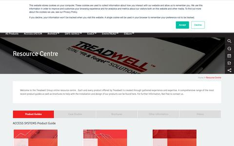 Screenshot of Case Studies Page treadwellgroup.com.au - Online Resources, Product Information & Brochures   Treadwell Group - captured Oct. 11, 2018