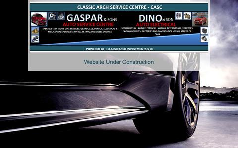 Screenshot of Home Page casc.co.za - CLASSIC ARCH INVESTMENTS - captured Oct. 2, 2014