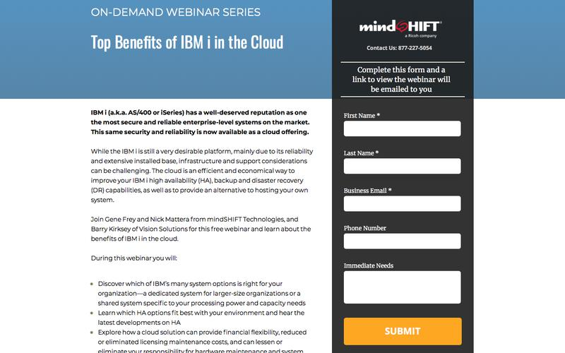 Top Benefits of IBM i in the Cloud